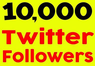 Fast 10,000+ Twiter FolIowers High quality & Permanent