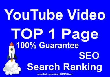 YouTube Video Ranking Guarantee TOP 1 Page - Top SEO Package 2019