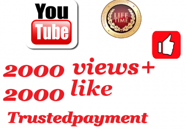 I will add super fast 10000 to 12000 video views+ 2 like 1-12 hours delivery