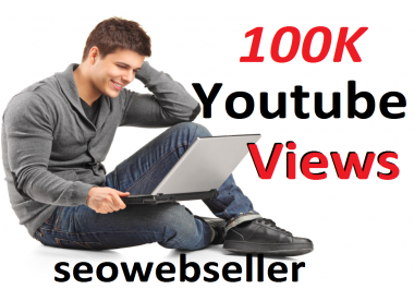Limited Offer 100k YouTube Video Vie ws 30 days Refill Guarantee  super fast deliver
