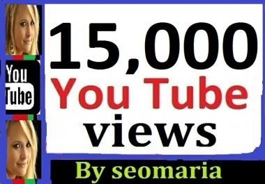 15,000 Safe/Non Drop YouTube Views + 200 Extra Bonus Likes