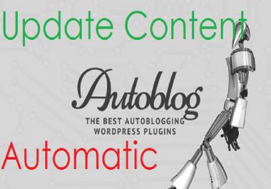 Autoblog website based on your keywords