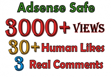 YouTube 3000 Views 30 Likes 3 Comments in 24-48 Hours SeoPromotion
