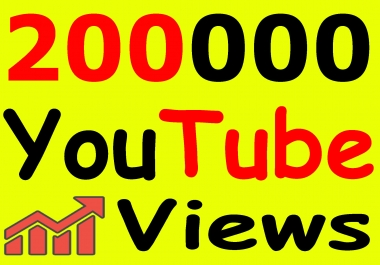 Get 200,000+ You-Tube Vie'ws & Bonus Lik'es with High Retention lifetime guarantee
