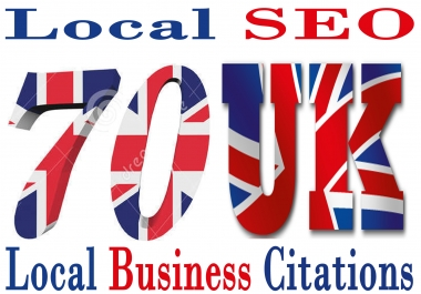 Do 70 Live UK Local Business Citations For Your Local Business Listings