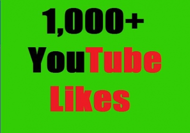 Guaranteed 1000+YouTube Likes OR 200+ Channel subscribe split available 12-24 hours in complete