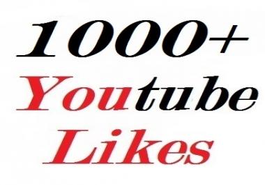 1000+ youtube likes very fast guaranteed split availavle