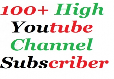100+ High Quality youtube subscribers nondrop guaranteed