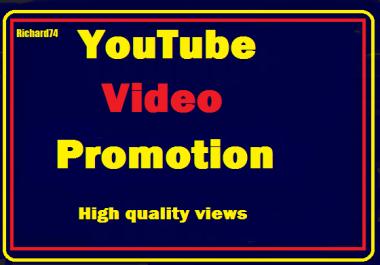 YouTube Videos Promotion Basic Pack Instant Start