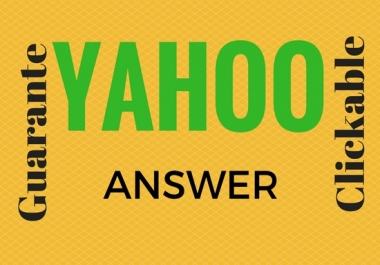 Promote your website in 15 Yahoo Answers with Clickable link