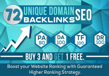 Do 72 Unique SEO Backlinks With Pr10 On Da100 Sites