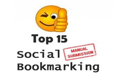 Submit MANUALLY Top 10 High DA (30 +) Social Bookmarking