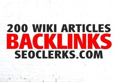 Create 200 WIKI Articles Contextual Backlinks