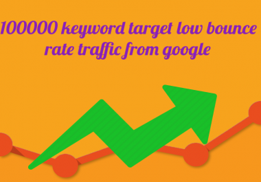 100000+ keyword targeted low bounce rate traffic