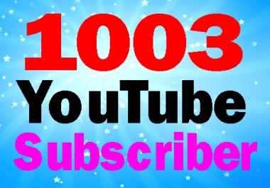 Guarantee 1003 subscriber high quality with super fast delivery complete only