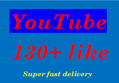 Instant provide 130 youtube likes and 7 youtube comments