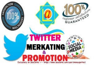 TWITTER AND ANY KIND OF SOCIAL MEDIA PROMOTION OFFER