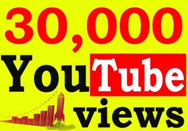 Fast 30,000+ High Retention 90 To 100 percent You-Tube Views