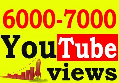 Fast 6000 To 7000 High Retention 90 To 100 Percent Non Drop Vi ews