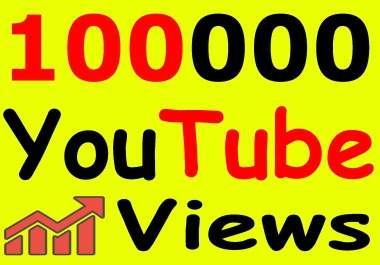 Get 100,000+ You-Tube Vie'ws & Bonus Lik'es with High Retention lifetime guarantee