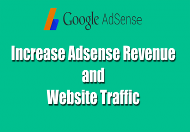 give you 40 manually traffics on your google adsense ads