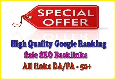 Handmake 100 High Quality PA/DA Safe Google Friendly Seo Backlinks With Edu Gov Links