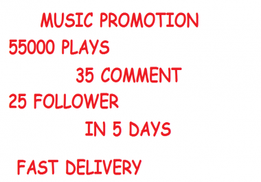 54,999 Plays + 35 Comment 25 Followers Deal