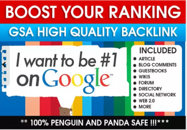 Boost google ranking FAST with 200 high DA backlinks