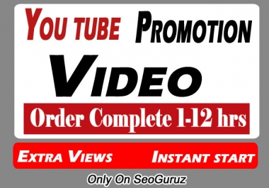 Instant Start YouTube Video Promotion and Marketing