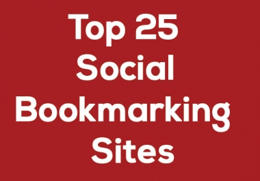 Provide Manually 25 Top PR10-5 Social Bookmarks on your site with Report