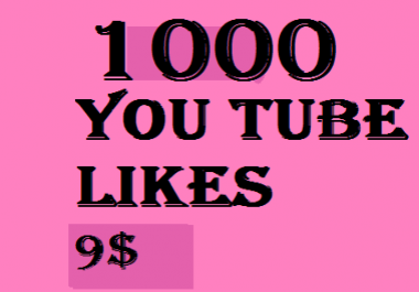 1000 You tube like Boost you seo