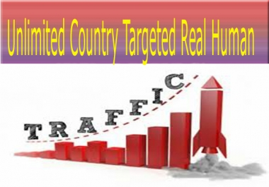 Unlimited Real Human Traffic From Social Media Sites &  Country Targeted For 6 Months