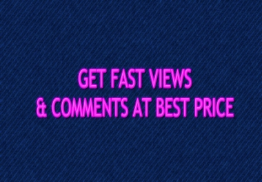 1000 youtube views & 30 custom comments