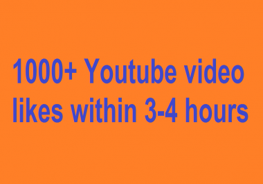 get Super fast 1000+ Y0utube videol!kes within 3-4 hours