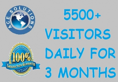 500,000 + visitors for 3 months