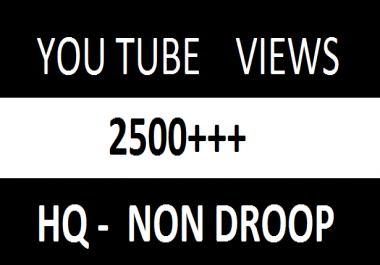 2500++ HR Real Human Yu - Tu Viewers 70%+ Retention up to 1 Hrs 250 lik es