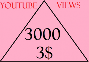 I PROVIDE YOU 3000+ NON DROOP HQ LIFETIME FULL AUDIENCE RETENTION YOU TUBE VIEWS