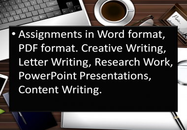 Make your presentations and assignments