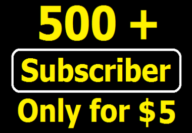 Buy 500+ Real YouTube Subcribers or, 1000+ YouTube Likes