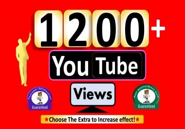 Instant Start 1200+YouTube-Video Views, Non Drop & Good Retention