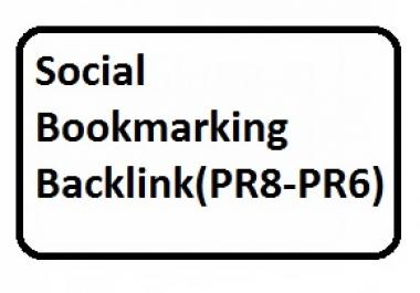 Boost Ranking-15 PR8 to PR6 Social Bookmarking Backlink For Website
