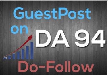 provide Guestpost on 94 DA and 46 TF