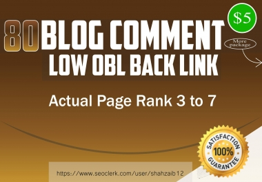 80 High PR low obl Blog Comments Backlink