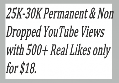 16K-20K Fast & Non Dropped You,Tube Vie,ws With 500+ Real Lik,es Super fast Delivery