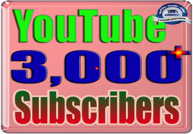 We Will Add 3000+ YouTube Subscribers or Likes or Views Real Safe & Non Drop and Fast