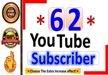 Instant Start 62+ YouTube-Subscriber, Real Active Person & Non Drop