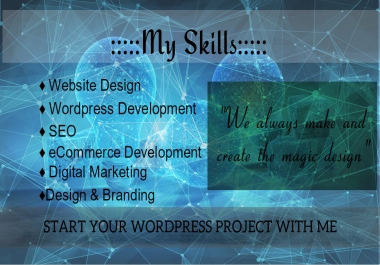 Creative,Modern & amazing webpage design for your website