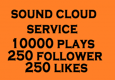 Get you 250 Soundcloud followers 10000 plays 250 likes