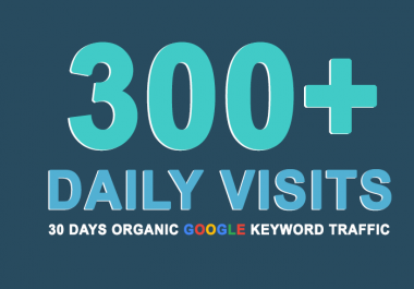 Send Keyword Targeted True Google Search Traffic for 30 Days
