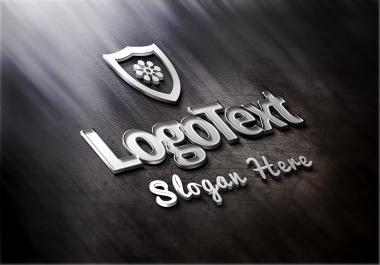 desing a elegant metallic logo